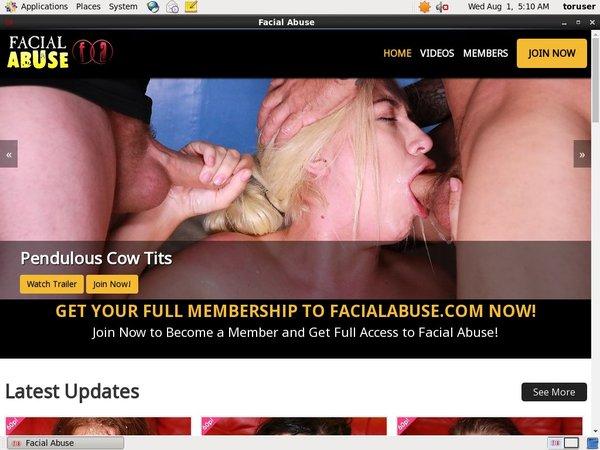 Abuse Facial Sign Up