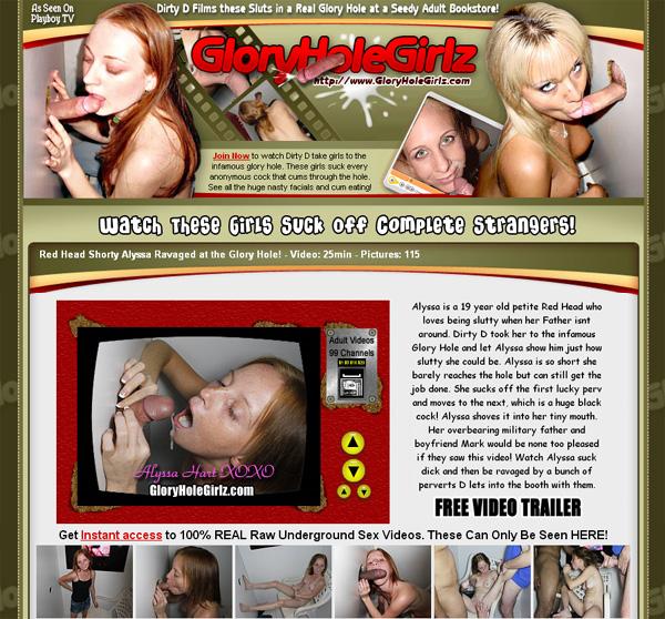 Glory Hole Girlz Site Passwords